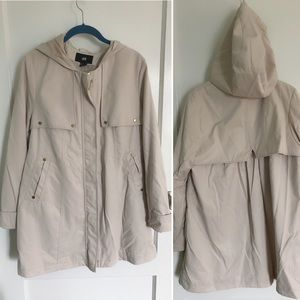 H&M Zipper Trench Coat Size 10